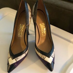 Ferragamo heels pattered!